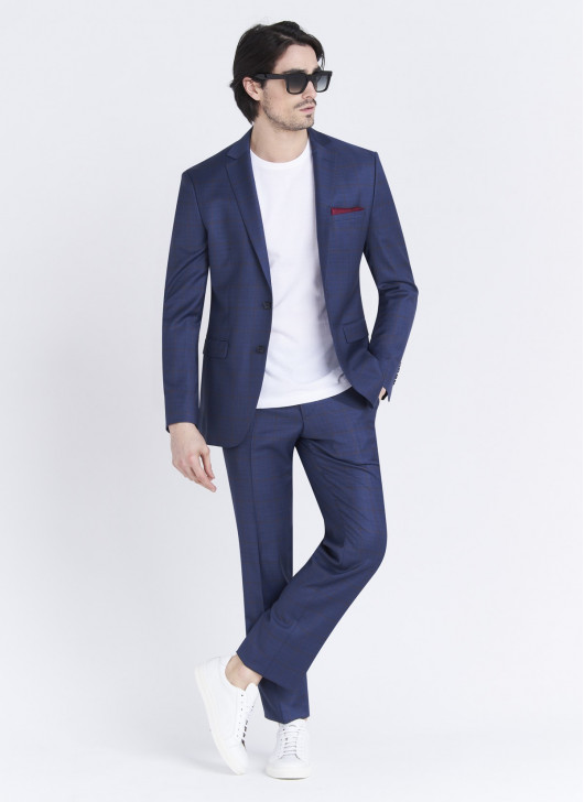 Slim fit suit Lanificio F.LLI Cerruti DAL 1881 - 84 - Denim Blue