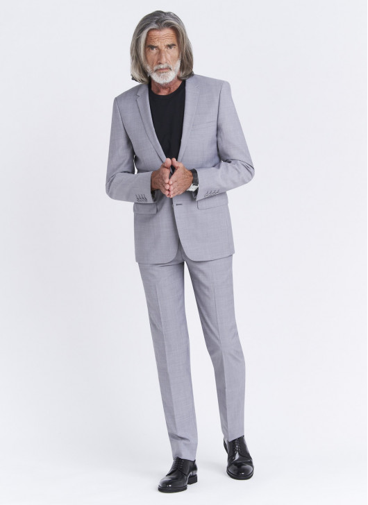 Slim fit suit Lanificio F.LLI Cerruti DAL 1881 - 21 - Pearl Grey