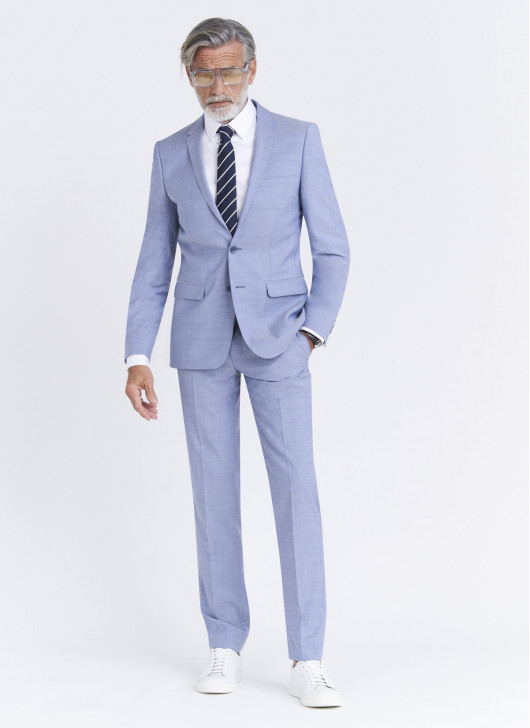 Slim fit suit Lanificio F.LLI Cerruti DAL 1881 - 81 - Sky Blue
