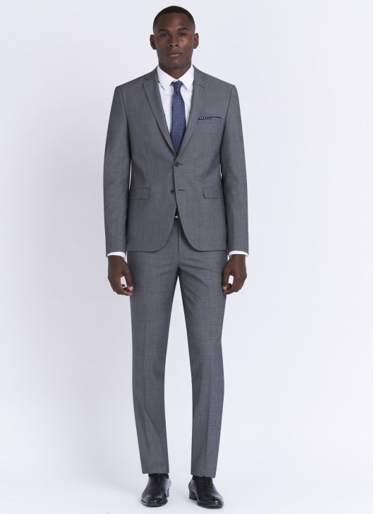 Costume slim fit Stanbridge - 22 - Gris moyen